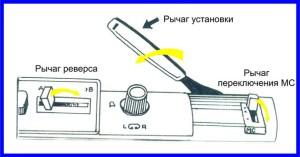 Rychag_ustanovki_rychag_pereklyucheniya_i_rychag_reversa