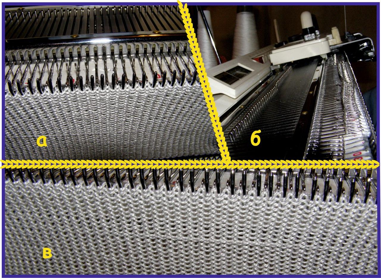 Разрыхление структуры полотна вязаного изделия