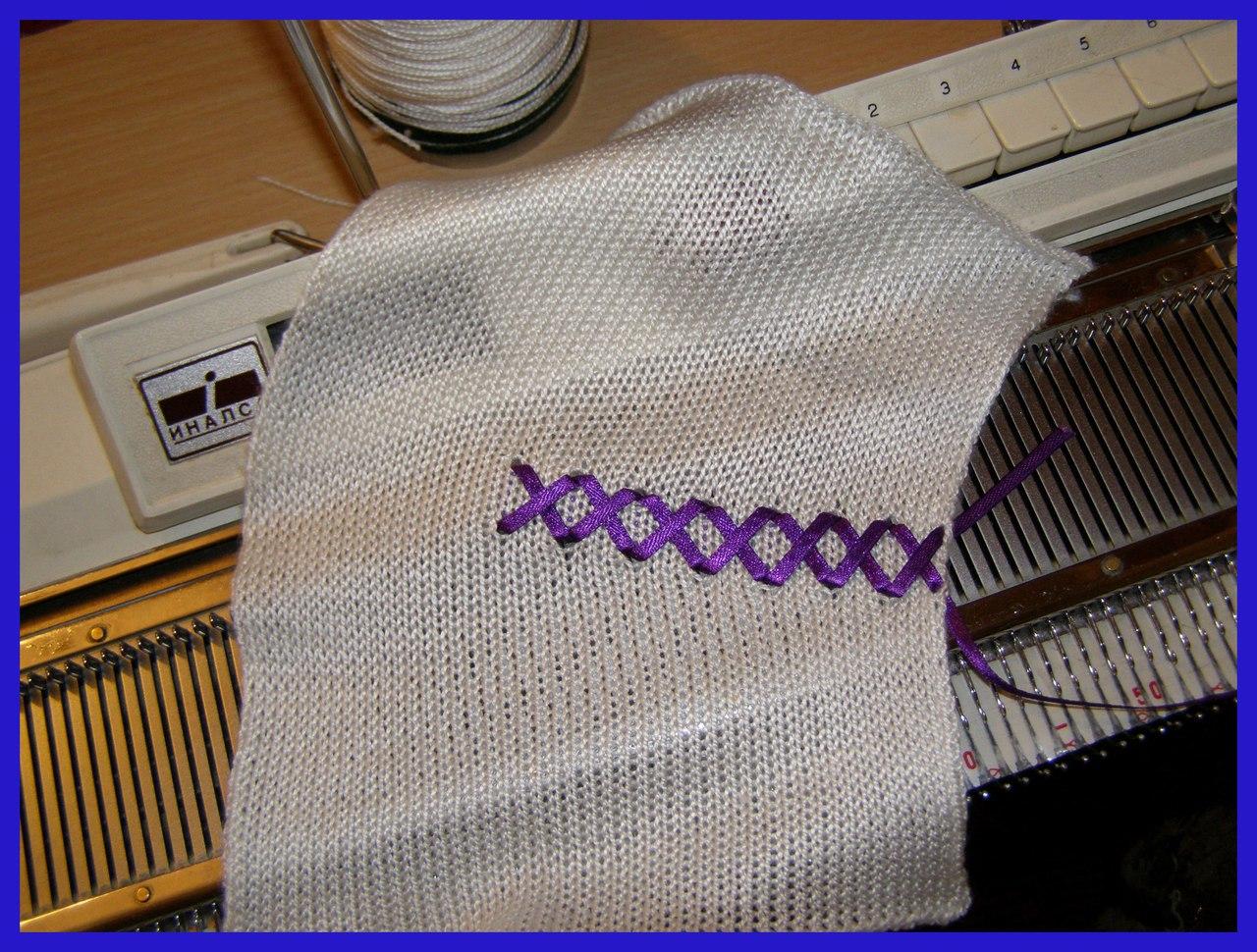 Частичное вязание на вязальной машине горловины6