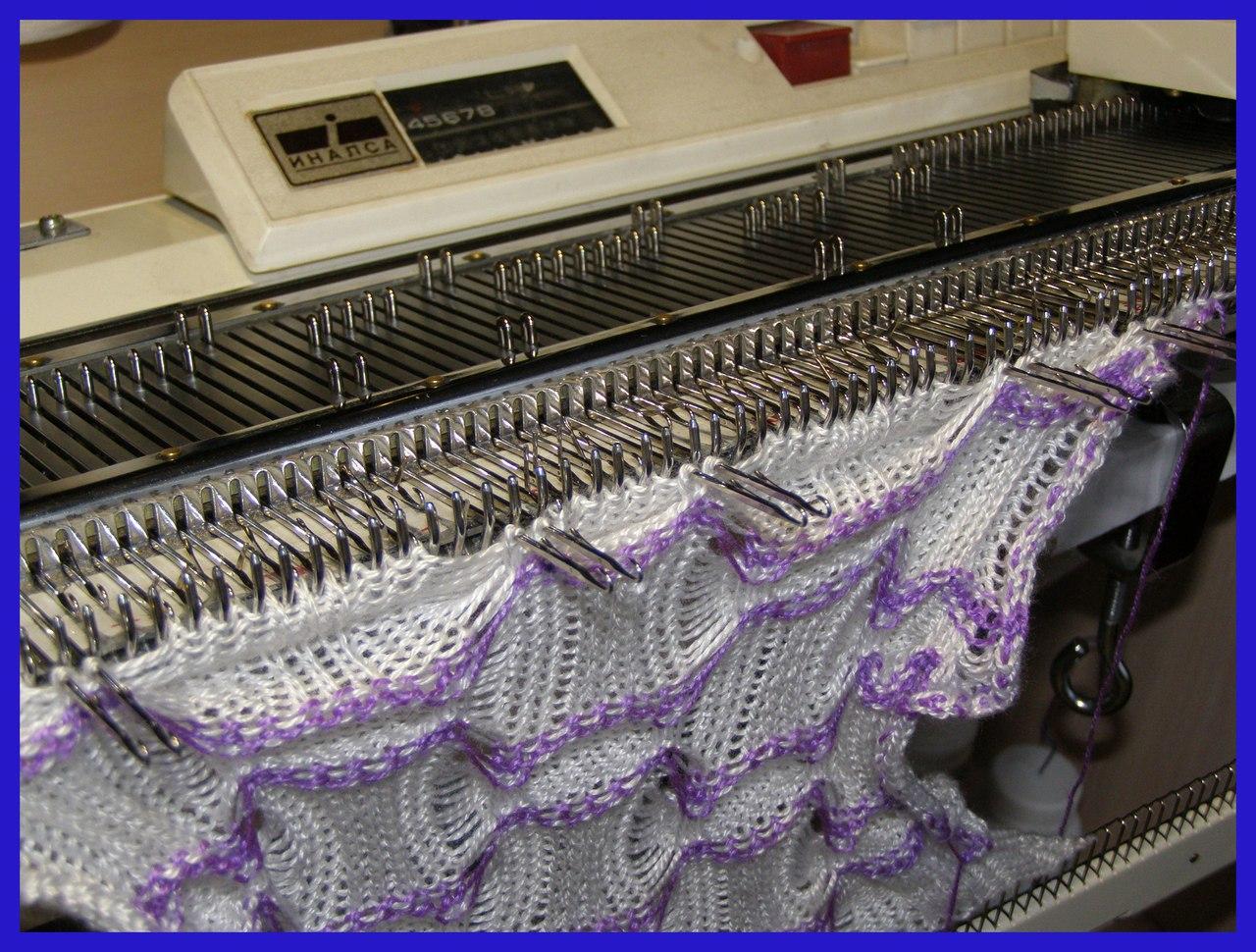 Вязание на вязальных машинах фото
