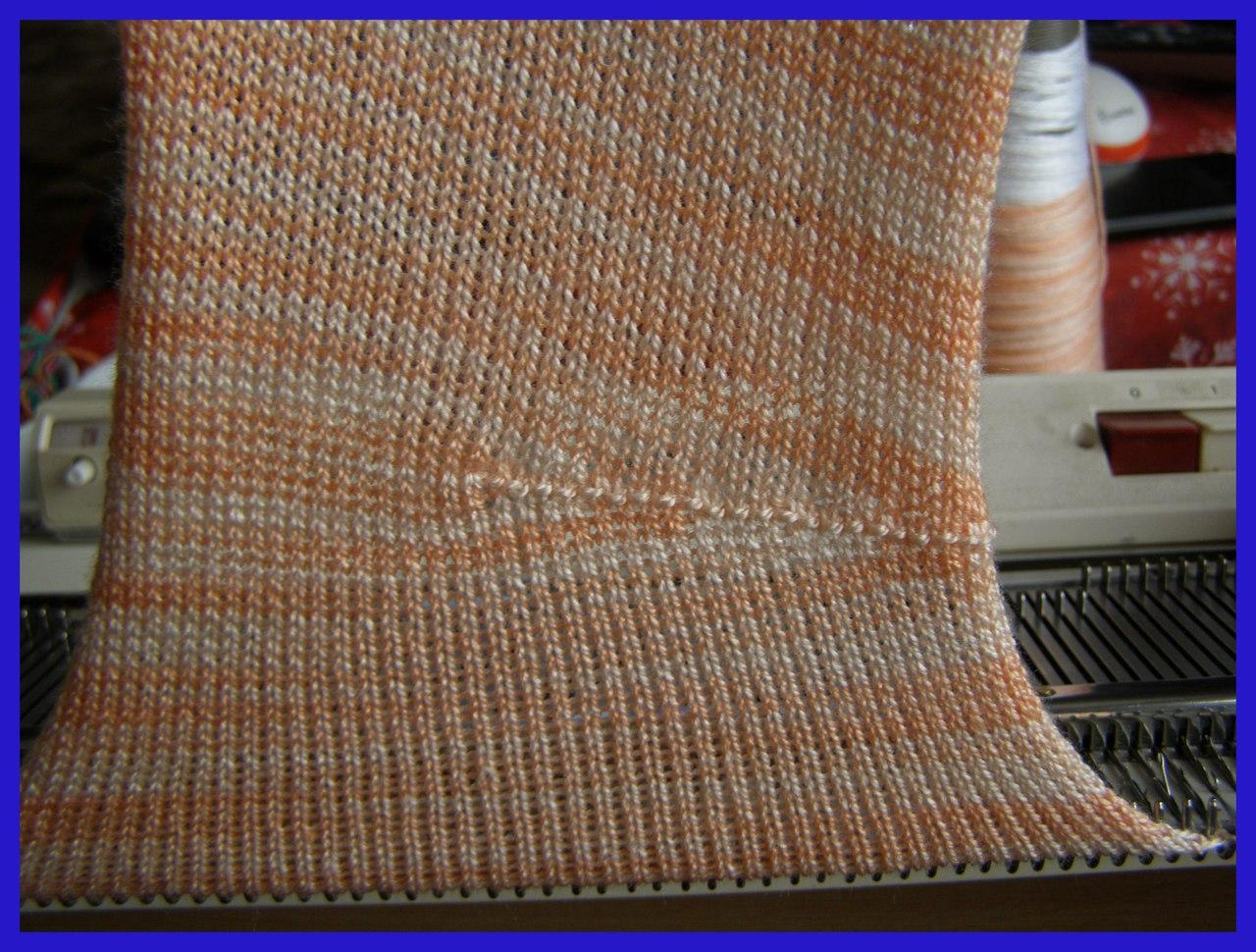 Вязание вытачек на машине