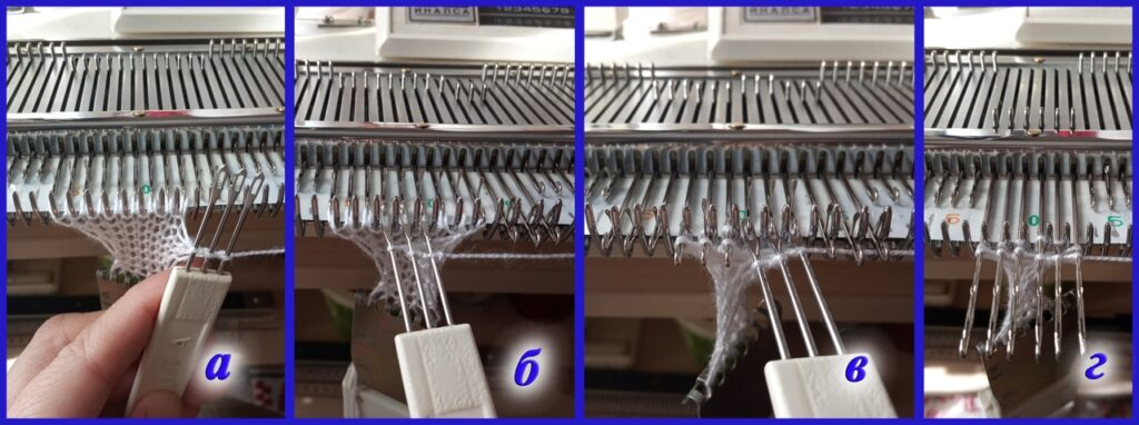 Перенос петель при формировании косички