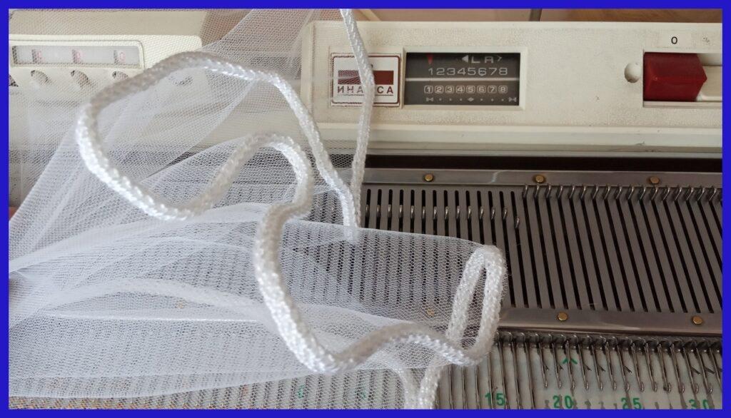 Обработка края ткани полым шнуром
